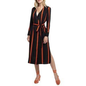 Astr the Label Stripe Wrap Dress